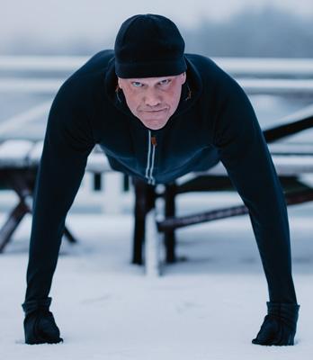 Magnus Brannstrom in an exercise session.