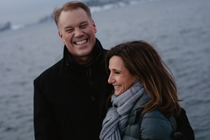 Magnus Brannstrom with his wife.
