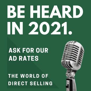 Advertise in 2021 with The World of Direct Selling.