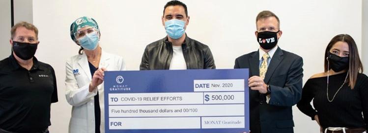 MONAT Gratitude Donates $500,000.