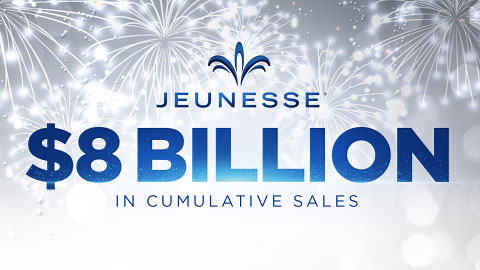Jeunesse raches $8 billion cumulative sales.